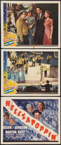 """Movie Posters:Comedy, Hellzapoppin' (Universal, 1941). Title Lobby Card and Lobby Cards (2) (11"""" X 14""""). Comedy.. ... (Total: 3 Items)"""