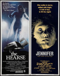 "Movie Posters:Horror, The Hearse and Other Lot (Crown International, 1980). Inserts (2) (14"" X 36""). Horror.. ... (Total: 2 Items)"