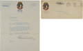 Autographs:Letters, 1924 Charles Comiskey Signed Letter....