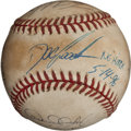 Baseball Collectibles:Balls, 1996 Dwight Gooden No-Hitter Game Used Baseball with Multiple New York Yankees Signatures....
