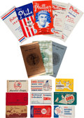 Baseball Collectibles:Others, 1930's-60's Major League Baseball Schedule Booklets and Cards Lotof 57....