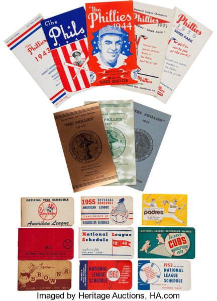 1930s 60s Major League Baseball Schedule Booklets And