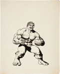 Original Comic Art:Illustrations, Bill Jaaska (attributed) The Incredible Hulk Illustration Original Art (undated)....