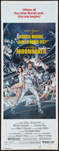 "Movie Posters:James Bond, Moonraker (United Artists, 1979). Insert (14"" X 36""). James Bond.. ..."