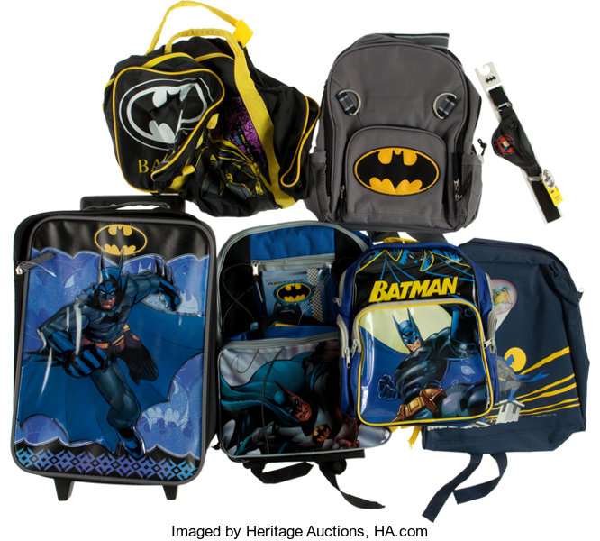 6f66cd6073d8 Batman Backpack Group (1980s-2000s).... (Total  7 Items)