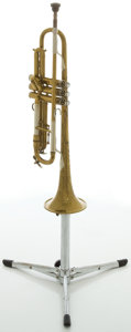 Musical Instruments:Horns & Wind Instruments, Circa 1948 Blessing Super Artist Brass Trumpet, #42827....