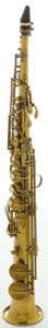 Musical Instruments:Horns & Wind Instruments, Circa 1922 C.G. Conn Brass Soprano Saxophone, #184665....