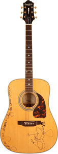 Musical Instruments:Acoustic Guitars, Epiphone Natural Acoustic Guitar, #GO402070018....