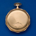Timepieces:Pocket (post 1900), Swiss 14k Gold 17 Jewel Pocket Watch. ...