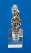 Timepieces:Wristwatch, Ladies Massey Tissot 14k Gold & Diamond Wristwatch. ...