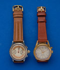 Timepieces:Wristwatch, Two Chronographs Running Wristwatches. ... (Total: 2 Items)