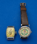 Timepieces:Wristwatch, Babe Ruth & The Lone Ranger Character Wristwatches Runners. ... (Total: 2 Items)