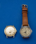 Timepieces:Wristwatch, Omega & Mido Automatic Wristwatches Runners. ... (Total: 2 Items)