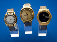 Three Wristwatches Girard Perregaux, Zodiac & Omega Chronometer All For Restoration Three Wristwatches Girard P