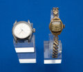 Timepieces:Wristwatch, Rolex Steel Lady's Oyster Perpetual & Vintage Gold Filled/Steel Back Standard. ... (Total: 2 Items)