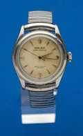 Timepieces:Wristwatch, Rolex Steel Bubbleback Ref. 6108. ...
