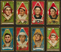 Baseball Cards:Lots, 1911 T205 Piedmont Gold Borders Baseball Collection (8) WithSpeaker. ...