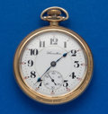 Timepieces:Pocket (post 1900), Hamilton 21 Jewel Gold Filled Pocket Watch. ...