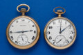 Timepieces:Pocket (post 1900), Two Burlington's 21 Jewel Pocket Watches Runners. ... (Total: 2 Items)