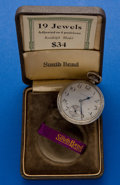 Timepieces:Pocket (post 1900), South Bend 19 Jewel Gold Filled Pocket Watch. ...