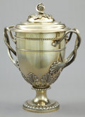 Silver Holloware, British:Holloware, A WILLIAM BURWASH GEORGE III SILVER GILT COVERED CUP . WilliamBurwash, London, England, 1814-1815. Marks: (lion passant), (...
