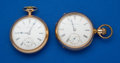 Timepieces:Pocket (post 1900), Two Elgin 17 Jewel 18 Size Pocket Watches Runners. ... (Total: 2 Items)