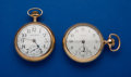 Timepieces:Pocket (post 1900), Illinois & Waltham 15 & 17 Jewels 18 Size Pocket Watches.... (Total: 2 Items)