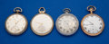Timepieces:Pocket (post 1900), Four 12 Size Running Pocket Watches. ... (Total: 4 Items)