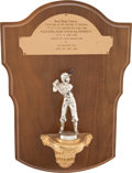 "Baseball Collectibles:Others, 1959 Rocky Colavito ""Four Consecutive Home Runs"" PresentationalPlaque...."