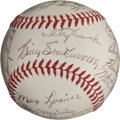 Autographs:Baseballs, 1943 St. Louis Cardinals Team Signed Baseball....