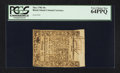 Colonial Notes:Rhode Island, Rhode Island May 1786 10s PCGS Very Choice New 64PPQ.. ...