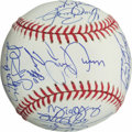 Baseball Collectibles:Balls, 2002 Texas Rangers Team Signed Baseball (22 Signatures) - With AROD....