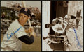 Baseball Collectibles:Photos, Ted Williams and Joe DiMaggio Signed Photographs Lot of 2....