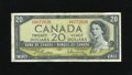 Canadian Currency: , Mismatched Serial Numbers BC-41b $20 Modified Portrait 1954.. ...