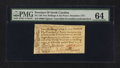 Colonial Notes:North Carolina, North Carolina December, 1771 2s6d House PMG Choice Uncirculated64.. ...