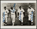 Baseball Collectibles:Photos, Mantle, Mays, DiMaggio and Snider Multi Signed Photograph....