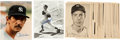Baseball Collectibles:Photos, 1940's New York Yankees Picture Pack Photographs (25), Joe DiMaggioSigned Photograph and Billy Martin Signed Photograph....
