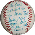 Autographs:Baseballs, 1974 Baseball Used in Hank Aaron's 715th Home Run Game....