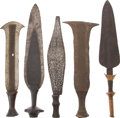 Antiques:Antiquities, Lot of Five Assorted Ethnographic Weapons from Central Africa.... (Total: 5 Items)