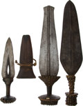 Antiques:Antiquities, Lot of Three Assorted Ethnographic Edged Weapons from CentralAfrica.... (Total: 3 Items)