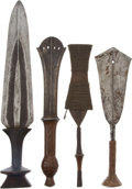 Antiques:Antiquities, Lot of Four Assorted Ethnographic Weapons From Central Africa. ...(Total: 4 Items)