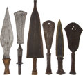 Antiques:Antiquities, Lot of Six Assorted Ethnographic Weapons From Central Africa.... (Total: 6 Items)