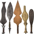 Antiques:Antiquities, Lot of Five Assorted Ethnographic Weapons From Central Africa....(Total: 5 Items)
