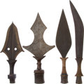 Antiques:Antiquities, Lot of Four Ethnographic Weapons From Central Africa.... (Total: 4 )