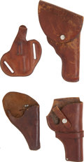 Arms Accessories:Holsters, Lot of Four Leather Holsters.... (Total: 4 )