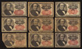 Fractional Currency:Fifth Issue, Fr. 1308 25¢ Fifth Issue Very Fine.. Fr. 1309 25c Fifth Issue.Eight Examples. Good or better.. ... (Total: 9 notes)