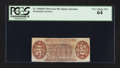 Fractional Currency:Third Issue, Fr. 1330aSP 50¢ Third Issue Spinner Narrow Margin Back PCGS Very Choice New 64.. ...
