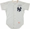 Baseball Collectibles:Uniforms, 1990 Rick Cerone Game Worn, Signed New York Yankees Jersey....