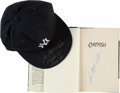 """Baseball Collectibles:Others, Jim """"Catfish"""" Hunter Signed New York Yankees Cap and HardcoverBook...."""