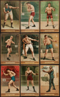 Boxing Cards:General, 1911 T9 Turkey Red Boxing Collection (9). ...